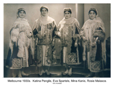 Four ladies in Kastellorizian costume