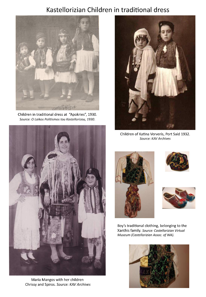 Kastellorizian children in traditional dress